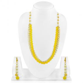 Bo'Bell Lemon Yellow Fashion Beads Fusion Western Necklace