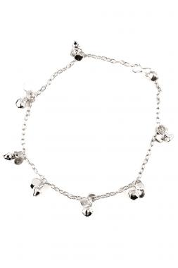 Bo'Bell Silver Lucky Leaf Charms Anklet