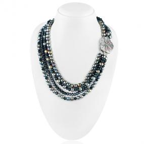 Bo'Bell Black Beauty Crunchy FWP Western Necklace
