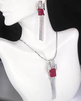 Sterling Silvia Necklace Set....