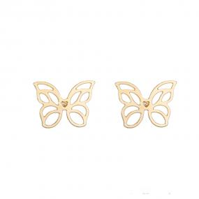 Bo'Bell Netted Tiny Butterfly Nature-Inspired Earring