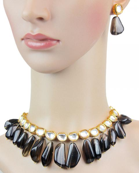 Olivia Black Beauty Necklace Set