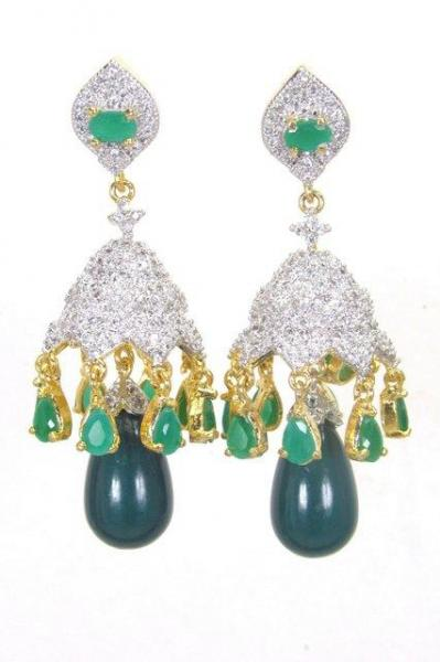 Bo'Bell Simple'n'Sweet AD Green Solid Designer Earring