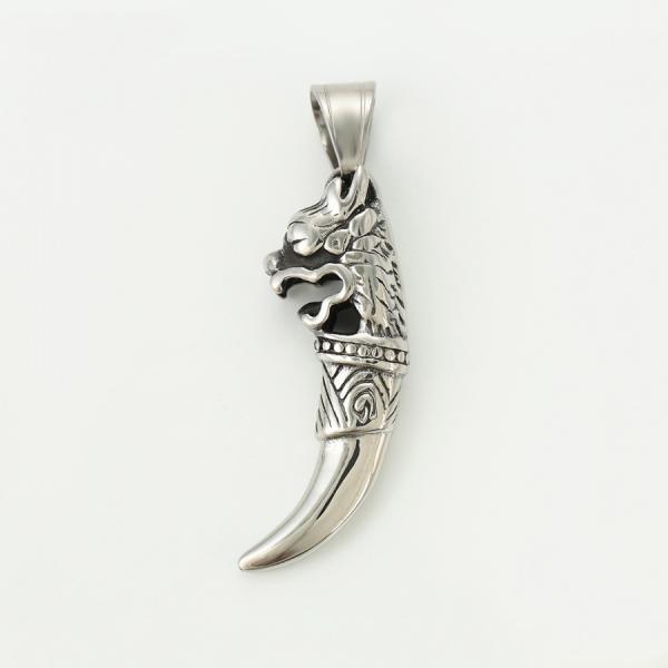 Stainless Steel Slash Lion Pendant