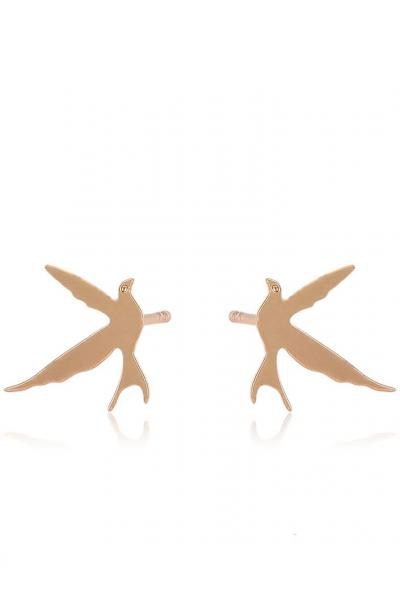 Bo'Bell Bird Free Nature Mate Gold Designer Earring