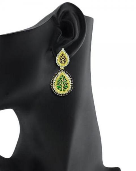 Bo'Bell Rajasthani Fusion Thewa Designer Earring