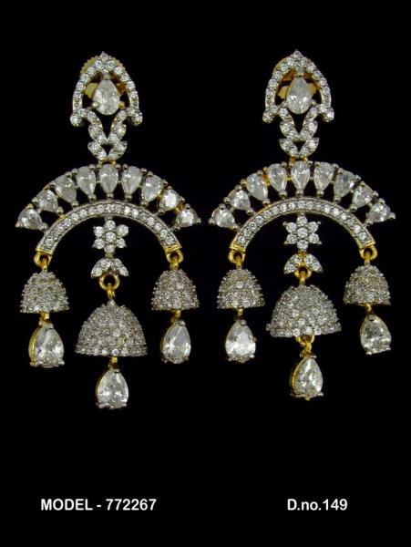 This earrings accents add eye-catching sparkle.