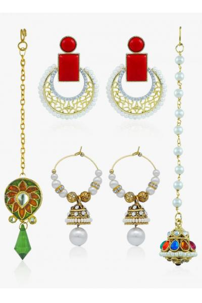 Bo'Bell Classic Royal Radiant Traditional Jewellery Combo/MULTI