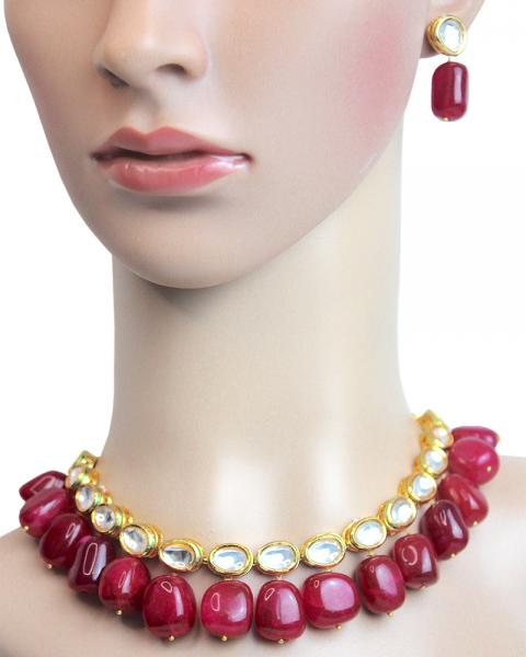 Ruby Rose Necklace Set