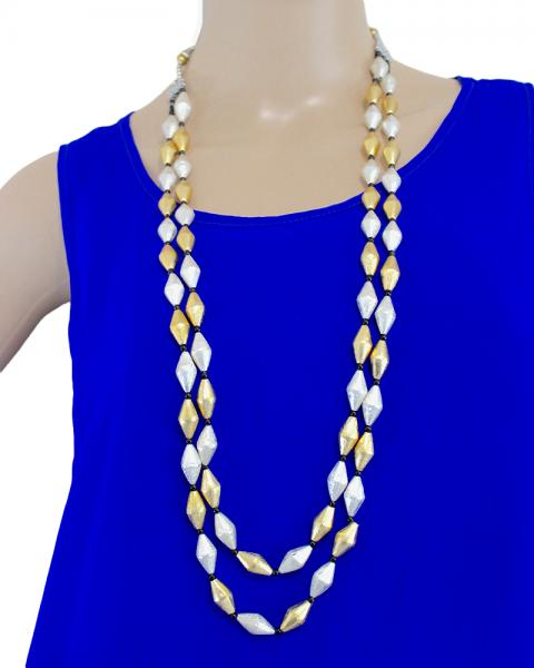 Celie Drum Beads Neckpiece