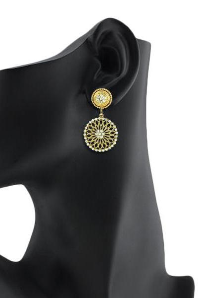 Bo'Bell Gorgeous  Artisanal Designer Earring/WHITE