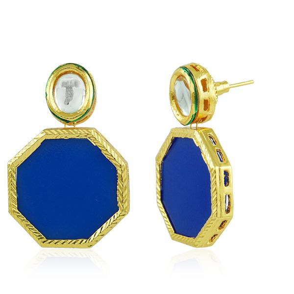 Bo'Bell Delicate Sweet Hexagon Sheet Fusion Earring/ROYALBLUE