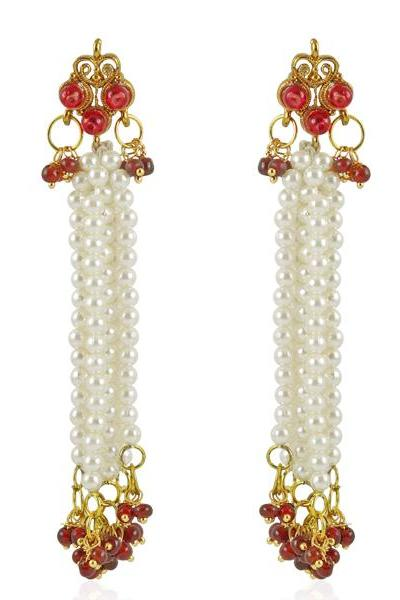 Bo'Bell Unique Ethnic Traditional Designer Earring/RED