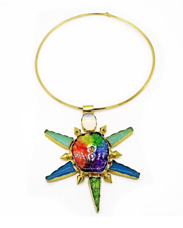 Rainbow Blossom Necklace