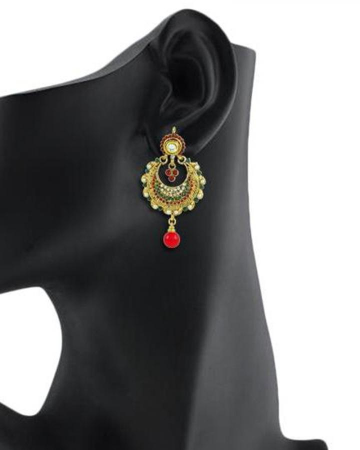 Bo'Bell Exotic Traditional Designer Earring/MULTI