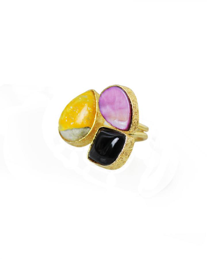 Amber Lilac Ring