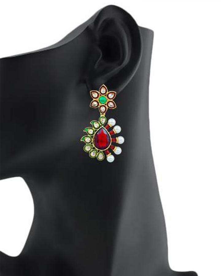 Bo'Bell Classic Artisanal Striking Designer Earring/MULTI