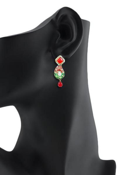 Bo'Bell Antique Meenakari Traditional Earring/MULTI