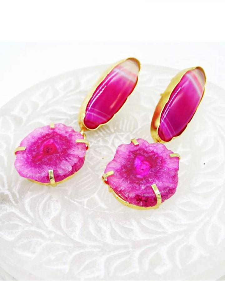 Fuschia Love Earrings