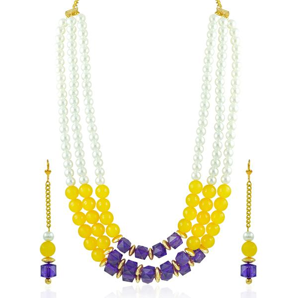 Bo'Bell Fusion Beads Chic Fashion Bollywood Necklace Set/MULTI