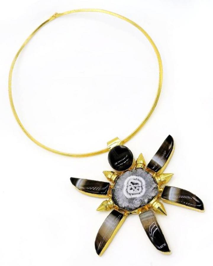 Black Blossom Necklace
