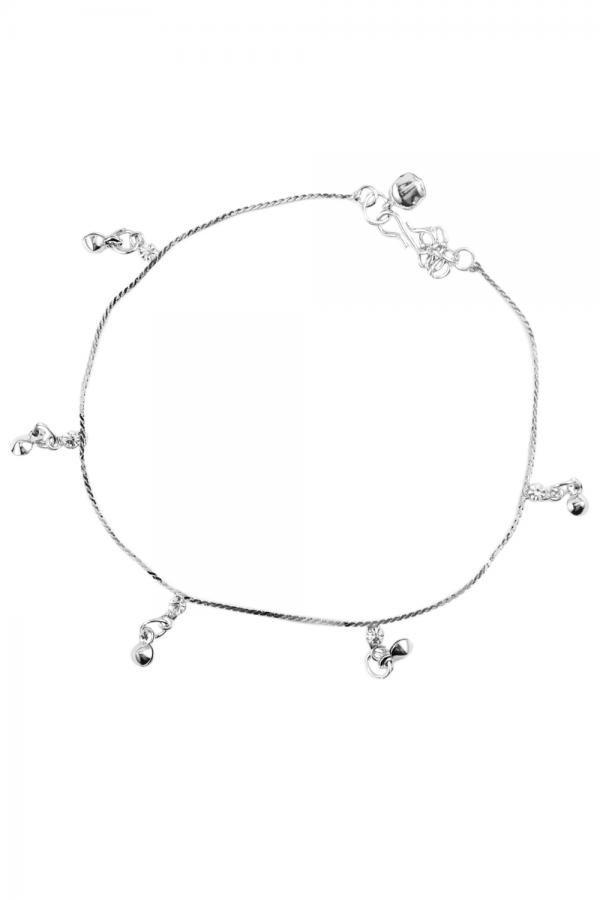 Bo'Bell Delicate Bell Italian Chain Anklet/SILVER