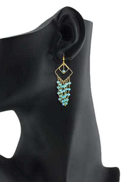 Bo'Bell Trendy Chic Designer Earring/AQUABLUE