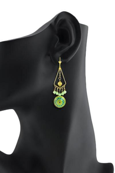 Bo'Bell Exclusive Fashionable Designer Earring/GREEN