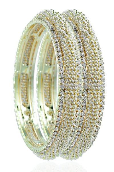 Bo'Bell Flawless Sparkling AD Fusion Bangle Set/GOLDEN