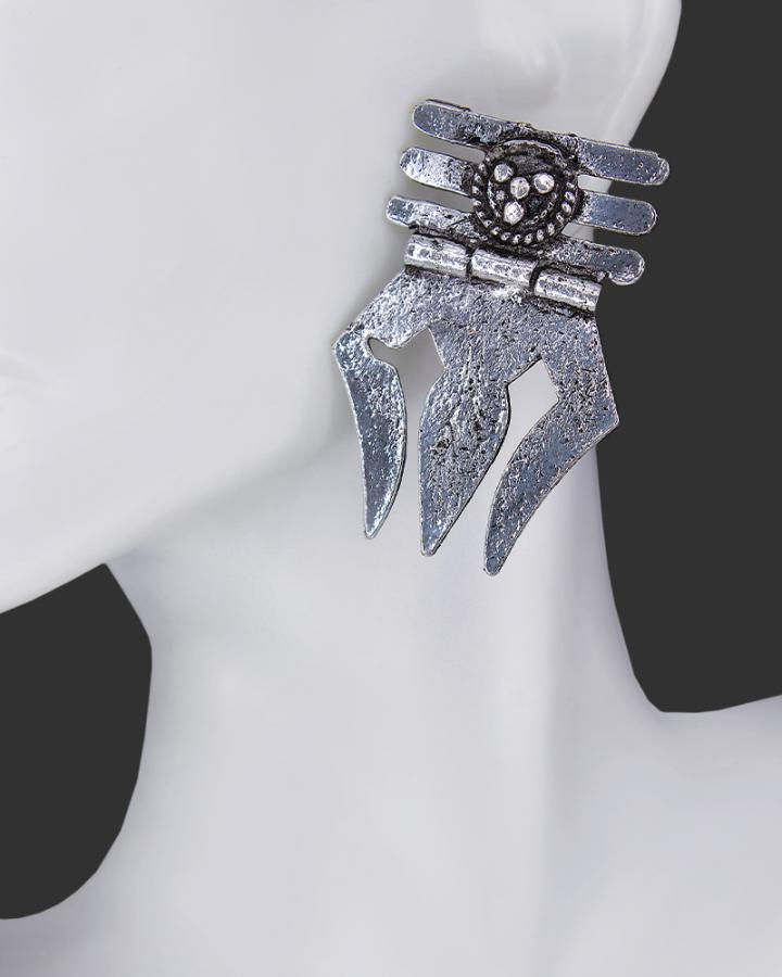 Trisula Grey Earring