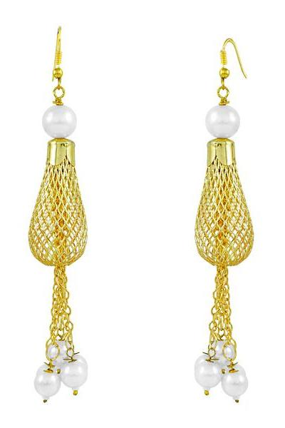 Bo'Bell Charming Chic Drop Designer Earring/GOLDEN