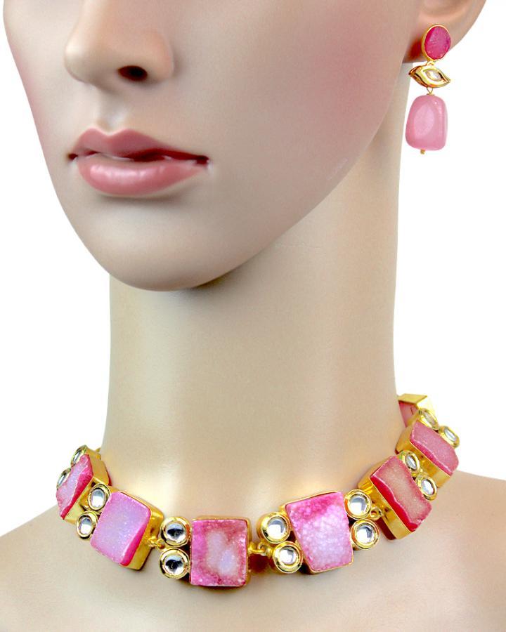 Flamingo Blush Necklace Set