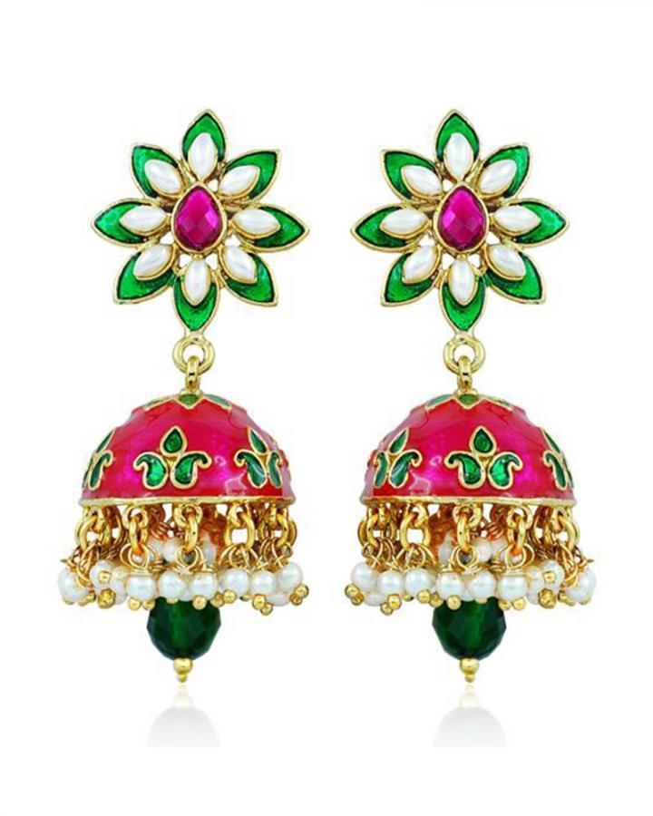 Bo'Bell Bolly Pompon Fashionable Designer Earring/MULTI