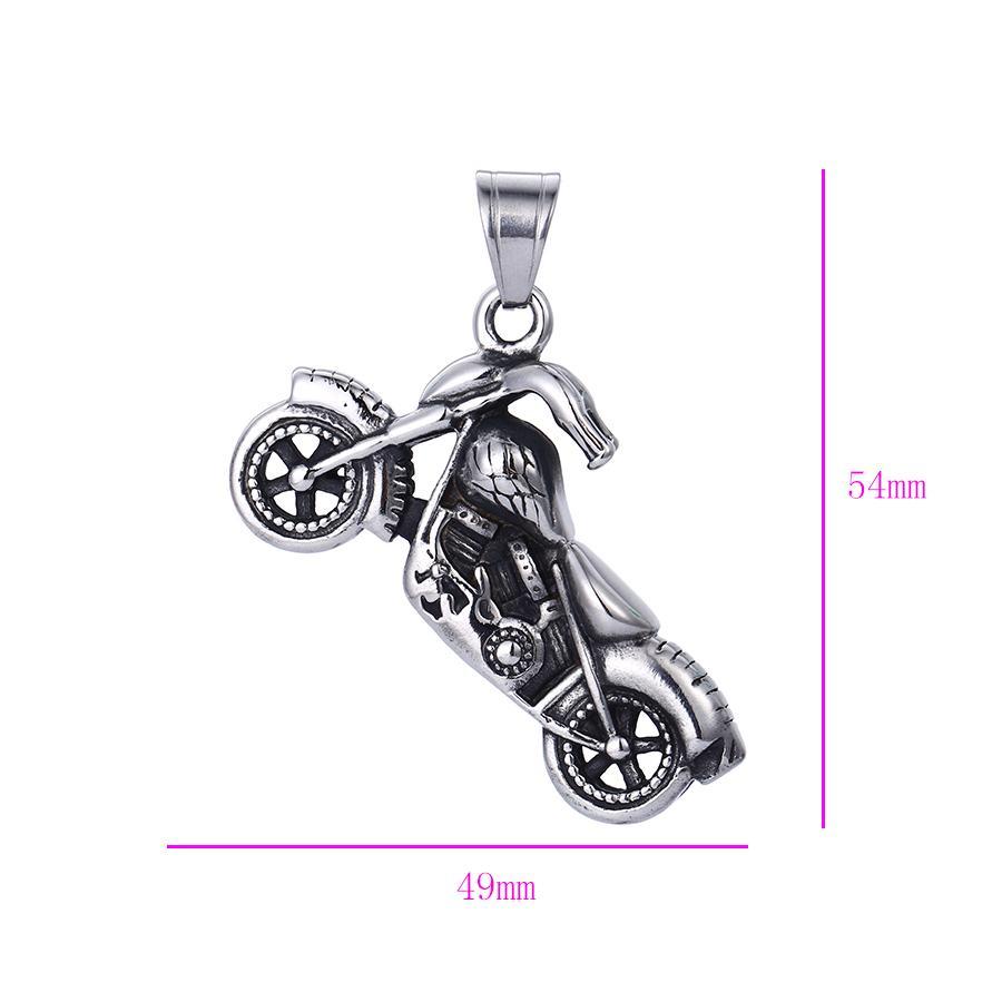 Bo'Bell Funky Chunky Bike Sterling Silver Men's Jewelry Pendant/SILVER