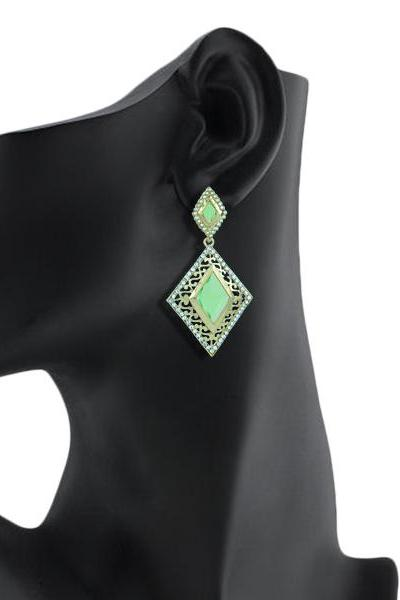 Bo'Bell Glamorous  Kundan Bolly Earring/GREEN