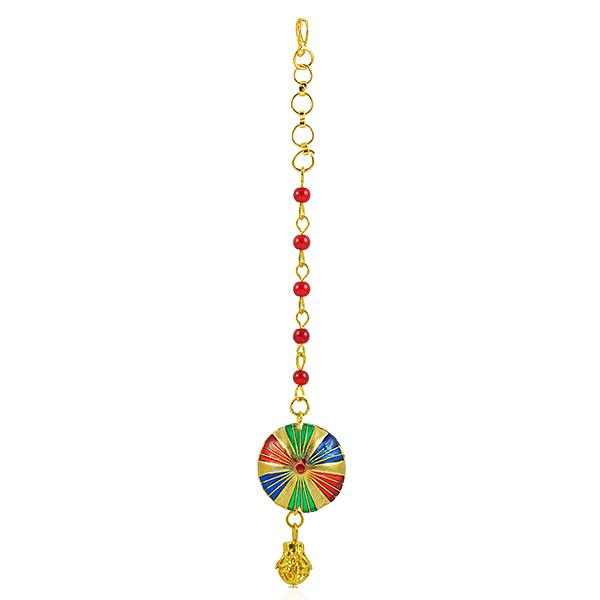 Bo'Bell Trendy Multicoloured Polki Maang Tikka/MULTI