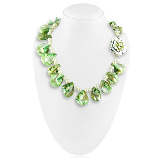 Bo'Bell Crunchy Fashion Abalone Shell Lovely Necklace/MULTI