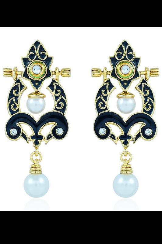 Bo'Bell Flawless Versatile Glamorous Designer Earring/BLACK
