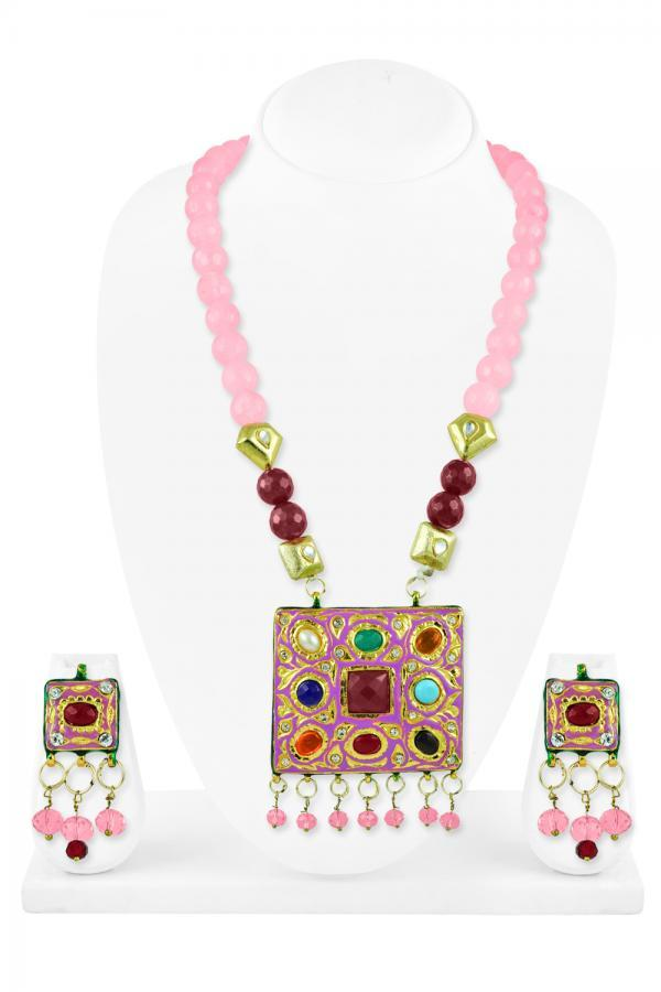 Bo'Bell Flattering Fashion Fusion Necklace Set/ROSEGOLD