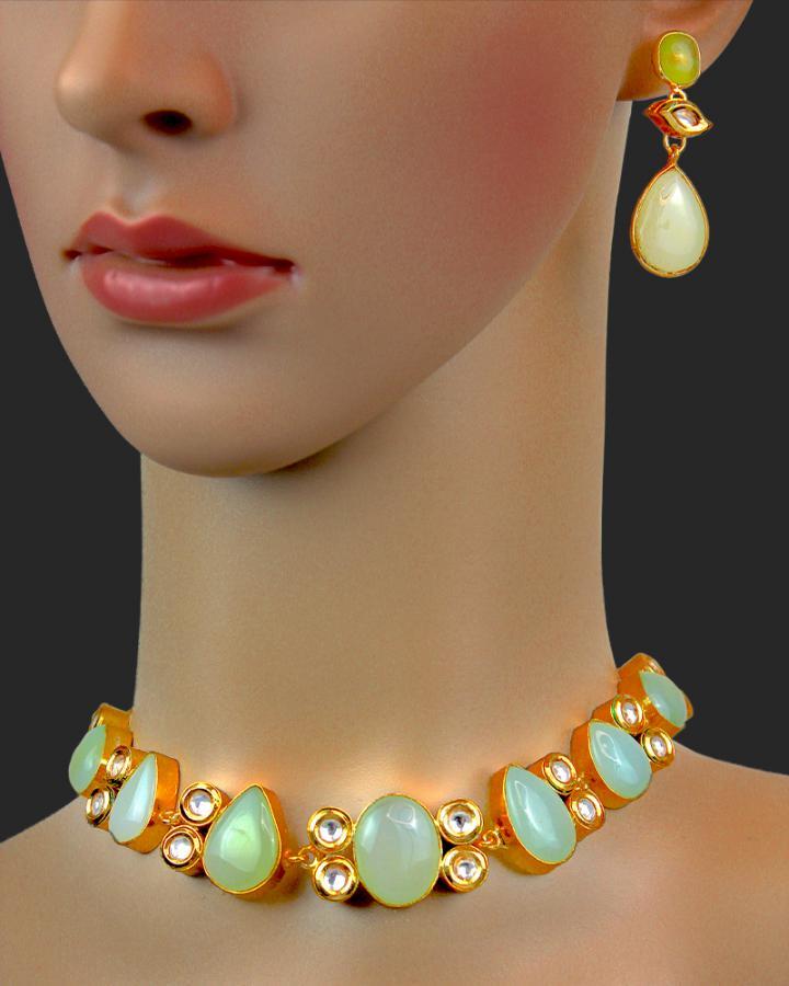 Aurora Jade Necklace Set