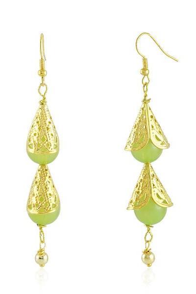 Bo'Bell Elegant Teardrop Designer Earring/GREEN