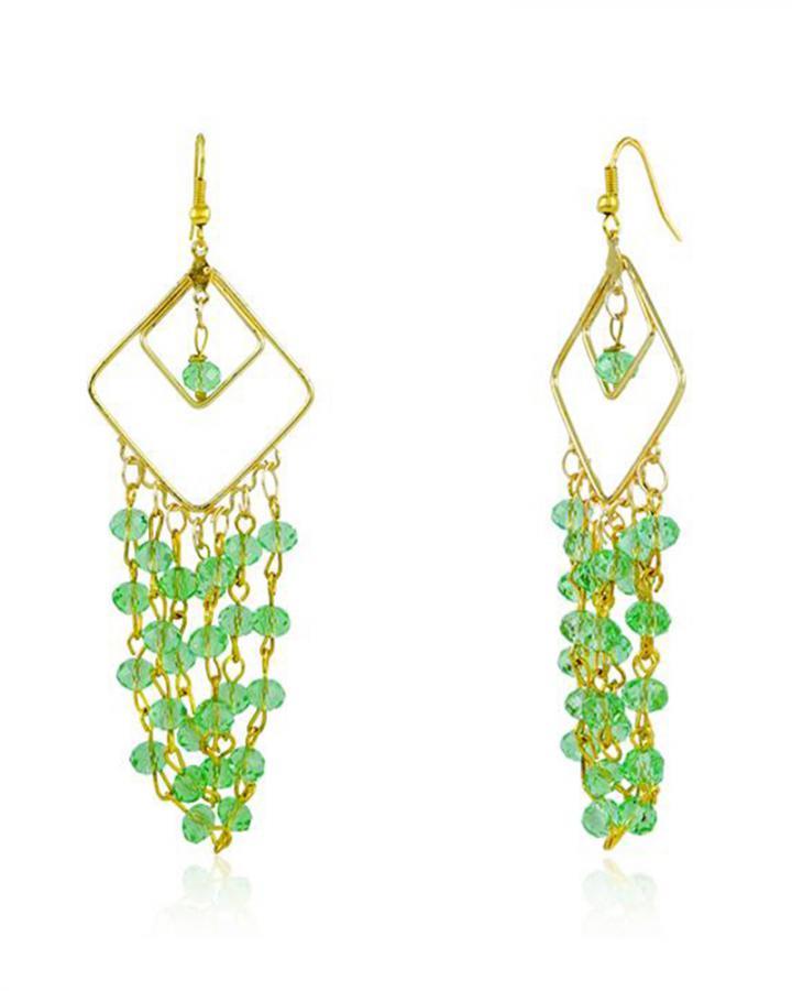 Bo'Bell Trendy Chic Designer Earring/GREEN