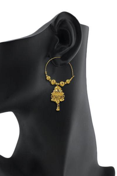 Bo'Bell Bolly Golden Jhumki Style Hoops/GOLDEN