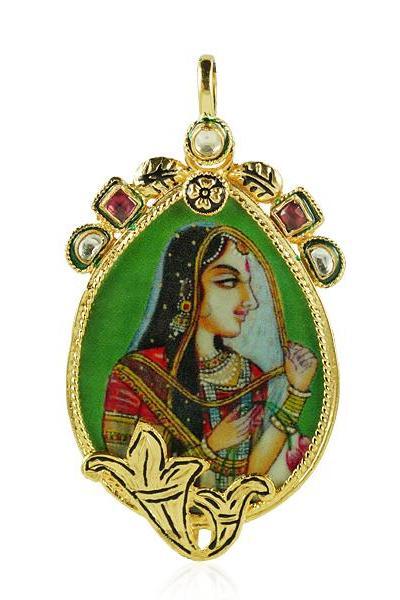 Bo'Bell Printed Rani Jodha Ethnic Necklace/MULTI