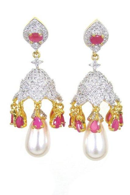 Bo'Bell Simple'n'Sweet AD Solid Designer Earring/WHITE