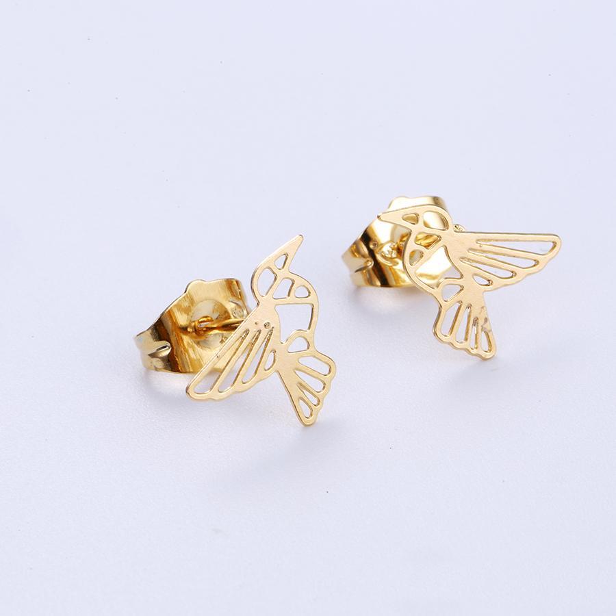 Bo'Bell Sweet Little Bird Free Nature Jewelry Earring/GOLDEN