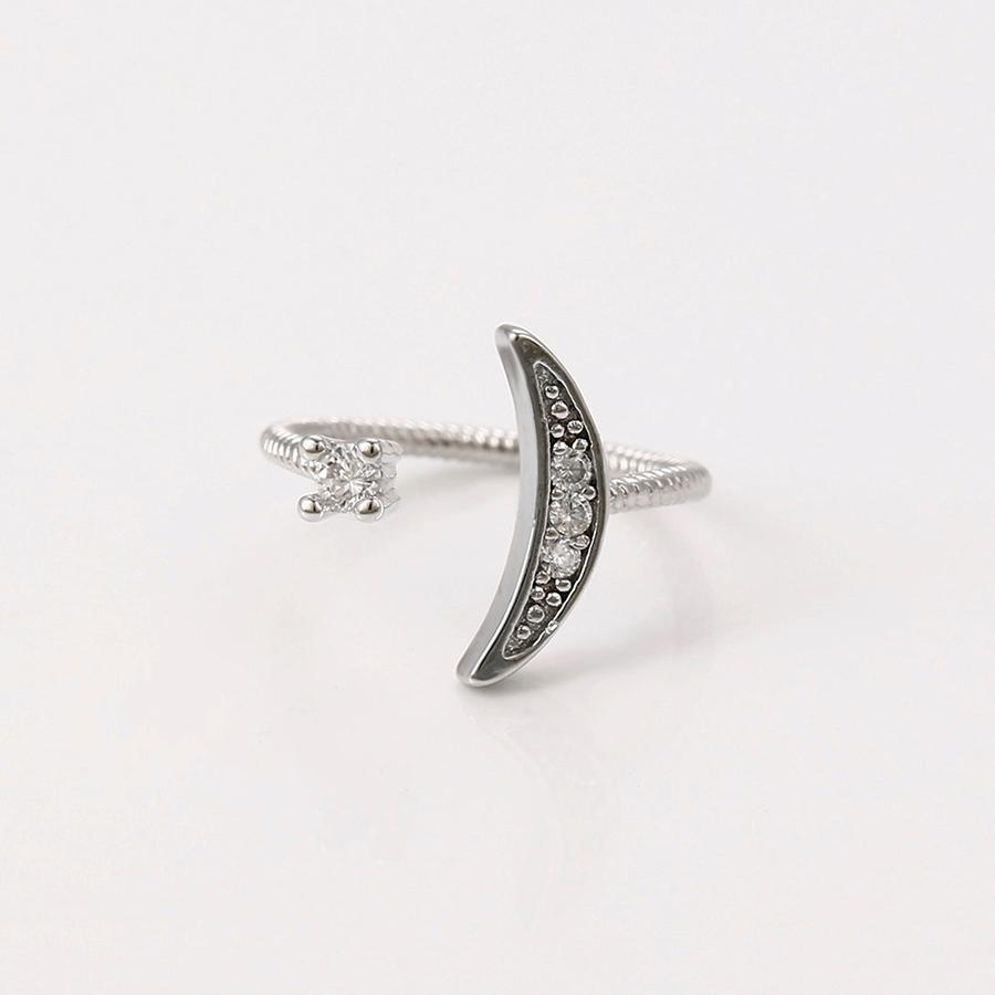 Crescent N Star Ring