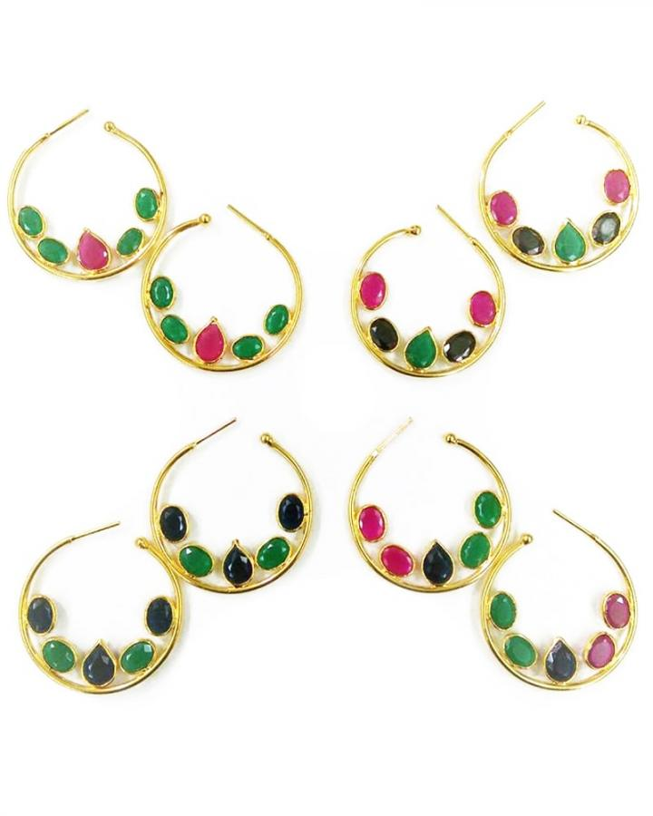 Faceted Quartz Earrings