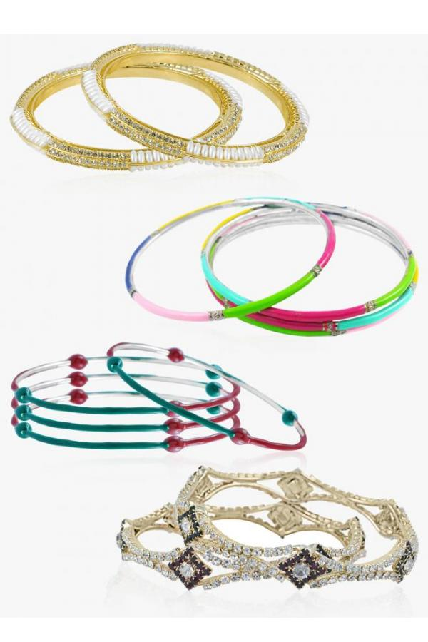 Bo'Bell Fancy Bollywood Indi Bangles Combo/MULTI