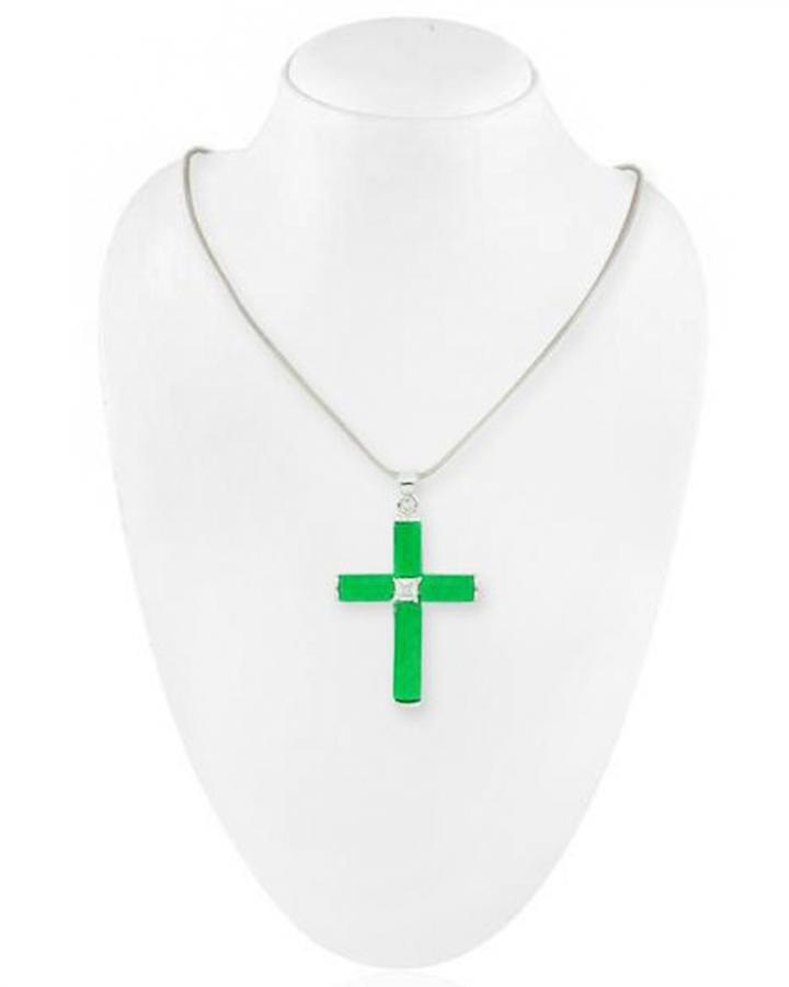 Jade Cross Pendant